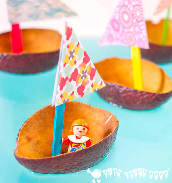 avocado toy boat water play toddler