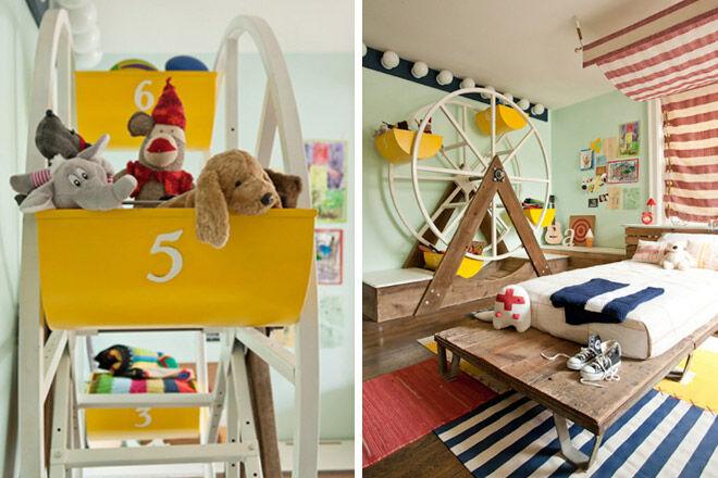 circus theme soft toy storage toddler
