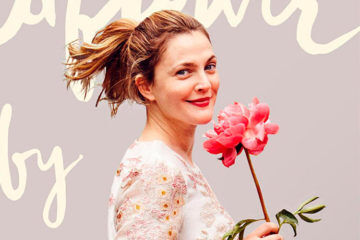 Drew Barrymore Celebrity Baby with Flower