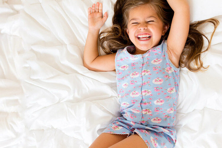 Girls summer pjs by four in the bed