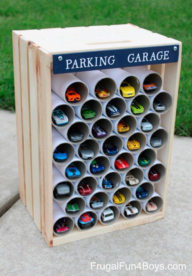frugal fun for boys toy car storage