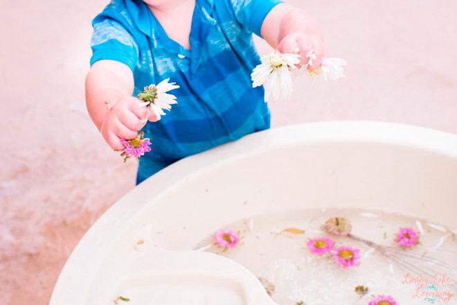 garden soup water play toddler