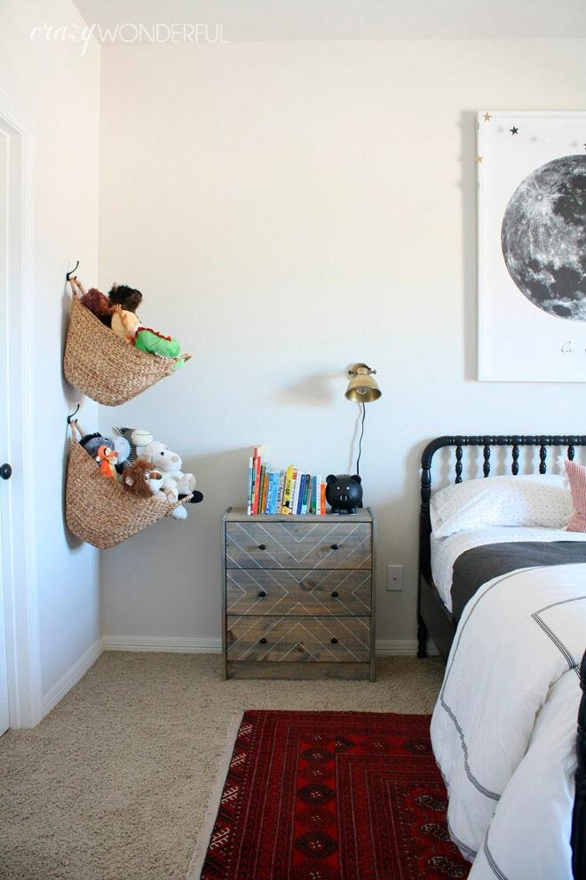 hanging basket soft toy storage toddler