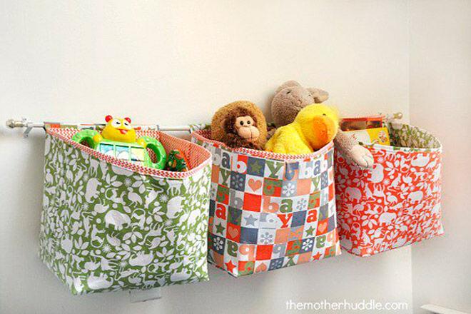 hanging fabric baskets soft toy storage toddler