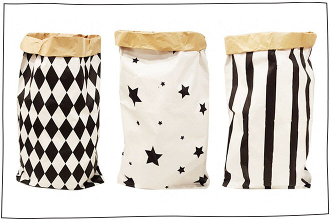 leo and bella paper bag toy storage