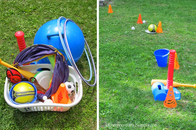 obstacle course gross motor skills preschooler