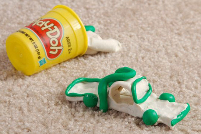 How to get Play doh out of carpet