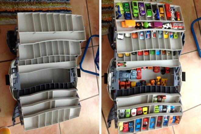 tackle box toy car storage