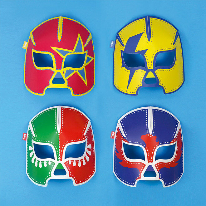DOIY Glow in the Dark wrestling masks