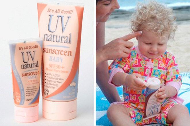 uvnatural baby sunscreen