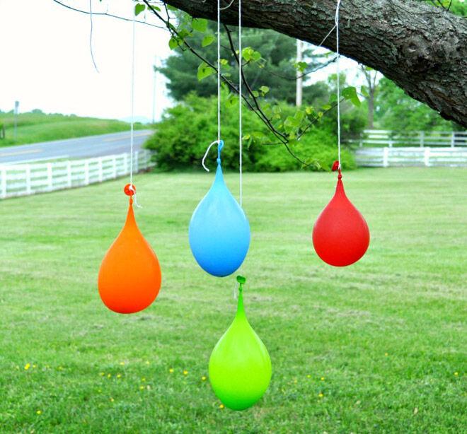 water balloon piñata play toddler