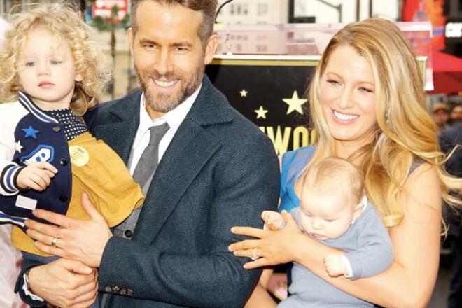 Ryan Reynolds, Blake Lively and daughters Jamie & Ines