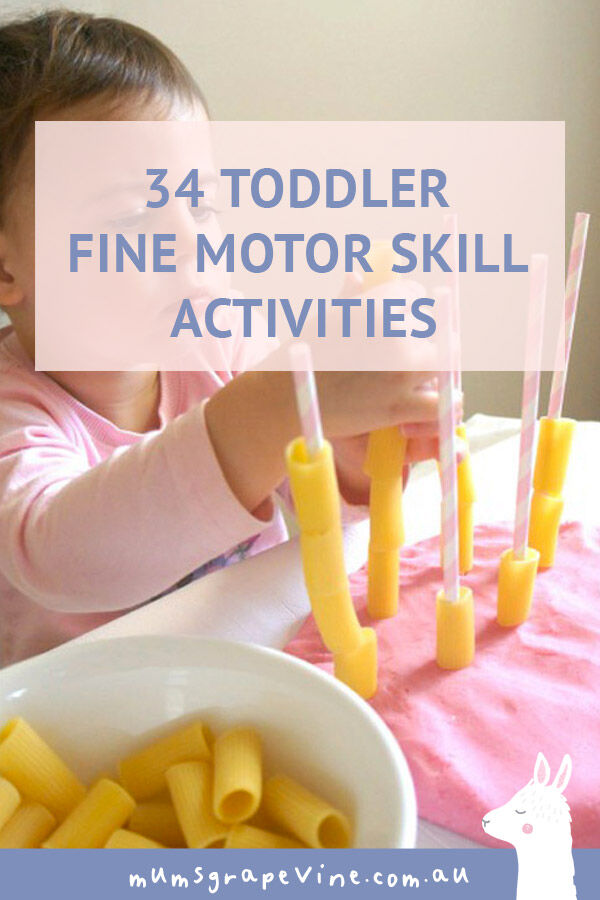 34 fine motor skill activities for toddlers