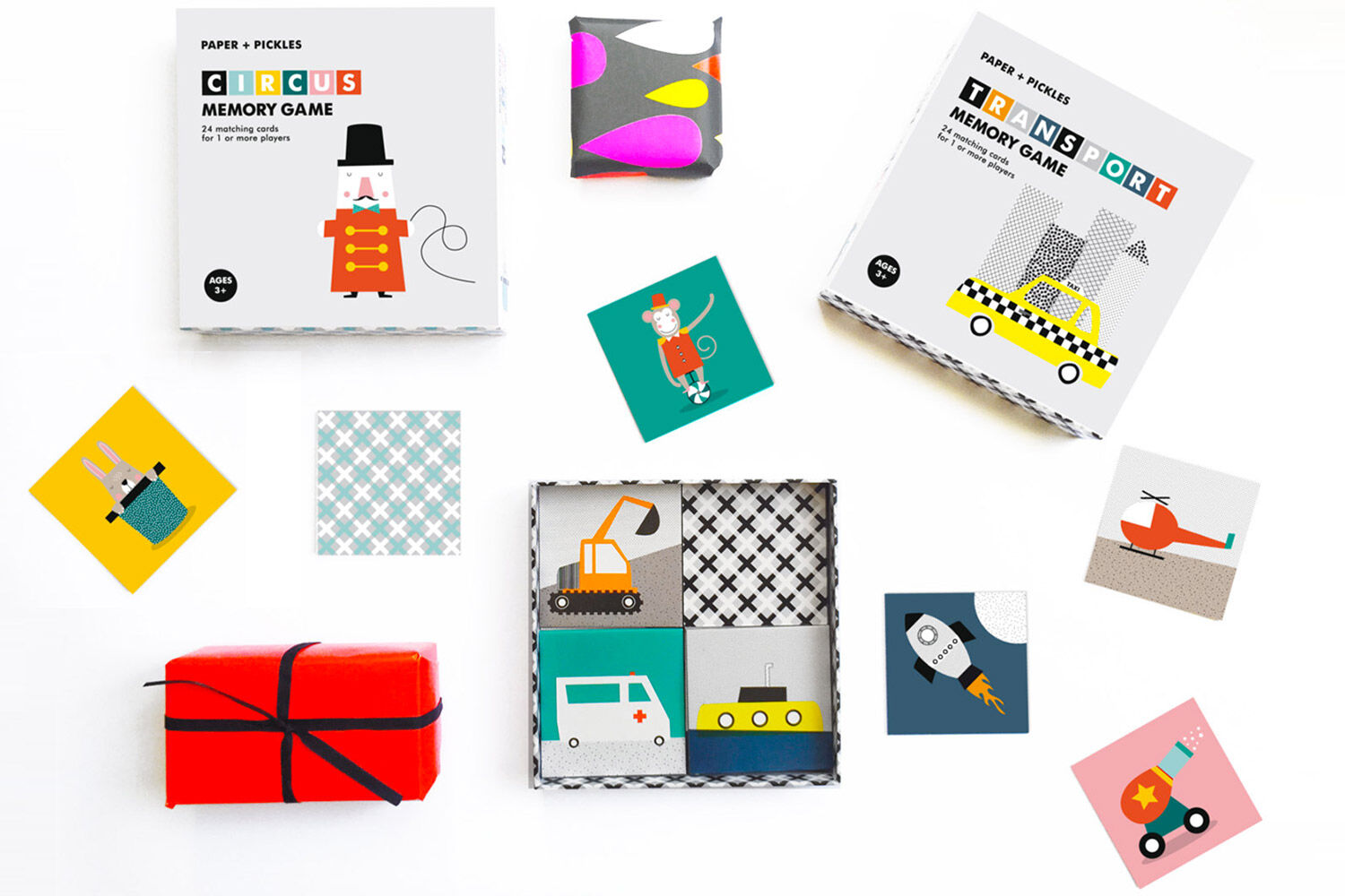 Paper & Pickles circus matching game