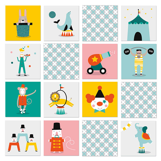 memory game from Paper and pickles