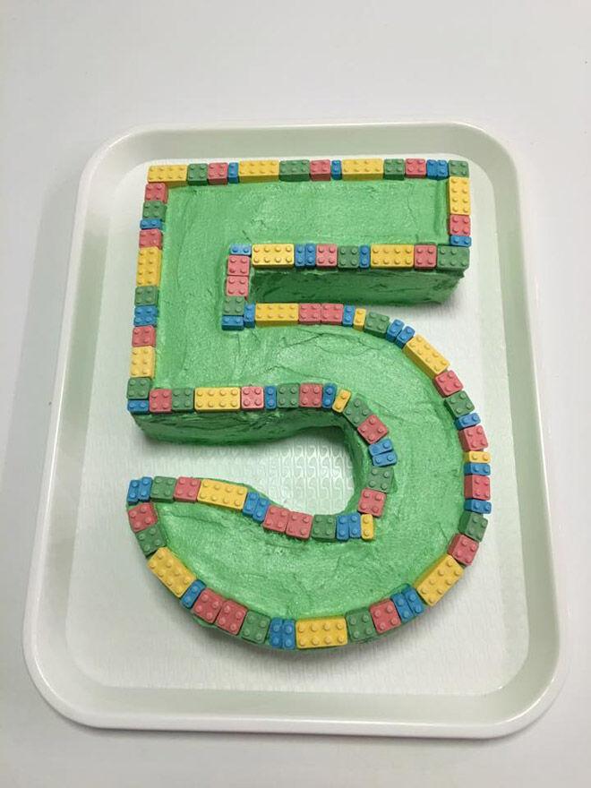 lego number cake kids