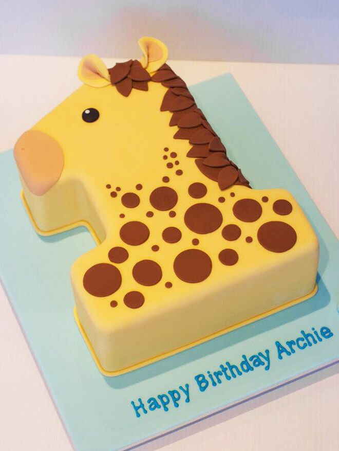 animal number cake kids