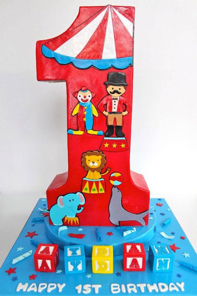 circus baby number cake