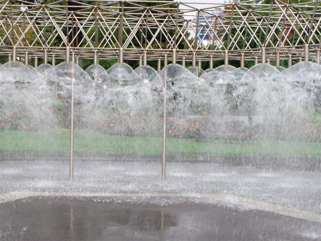 coles fountain melbourne water play