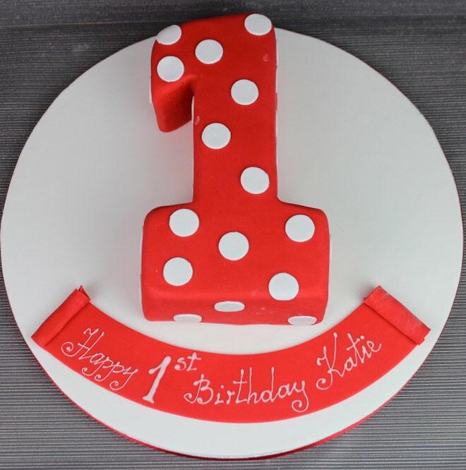 dotty number cake kids