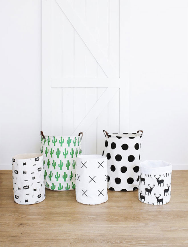 Canvas baskets to store toys
