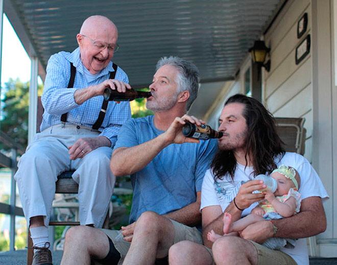 funny generational photo family