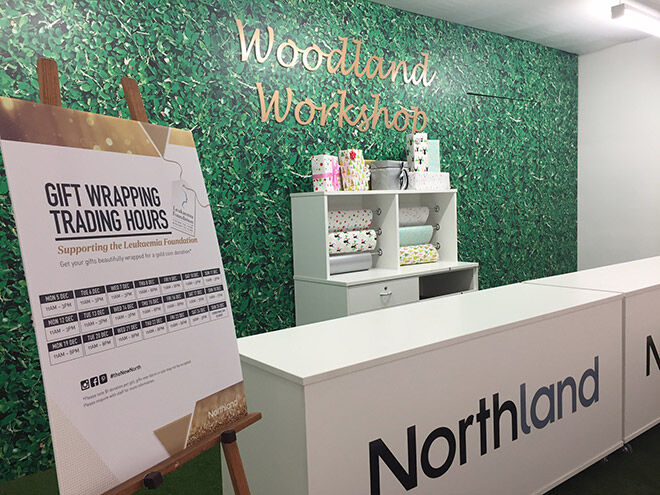 Free giftwrapping at Northland shopping centre