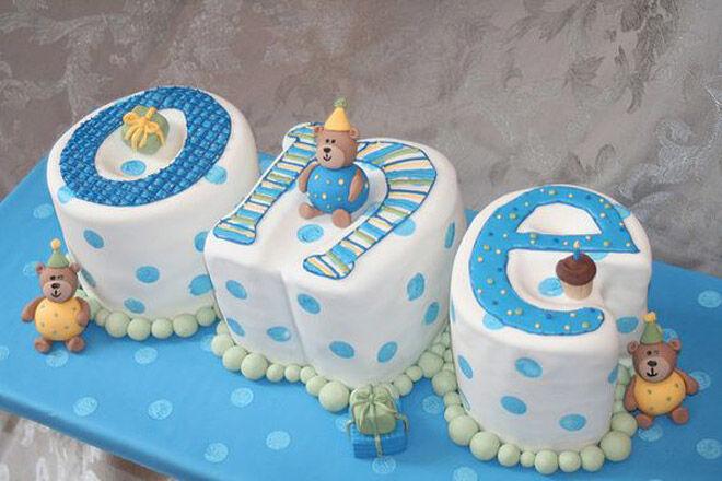 Letter Number Cake Kids