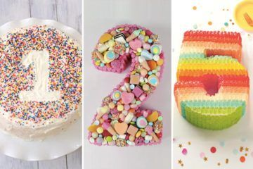 Numbered Birthday Cakes