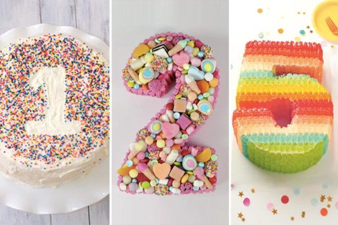 Numbered Birthday Cakes