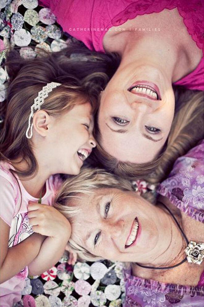 overhead generation family photo