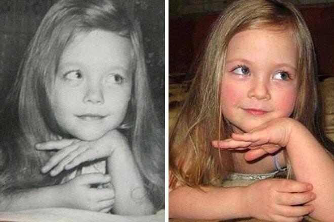 similar generation family photo