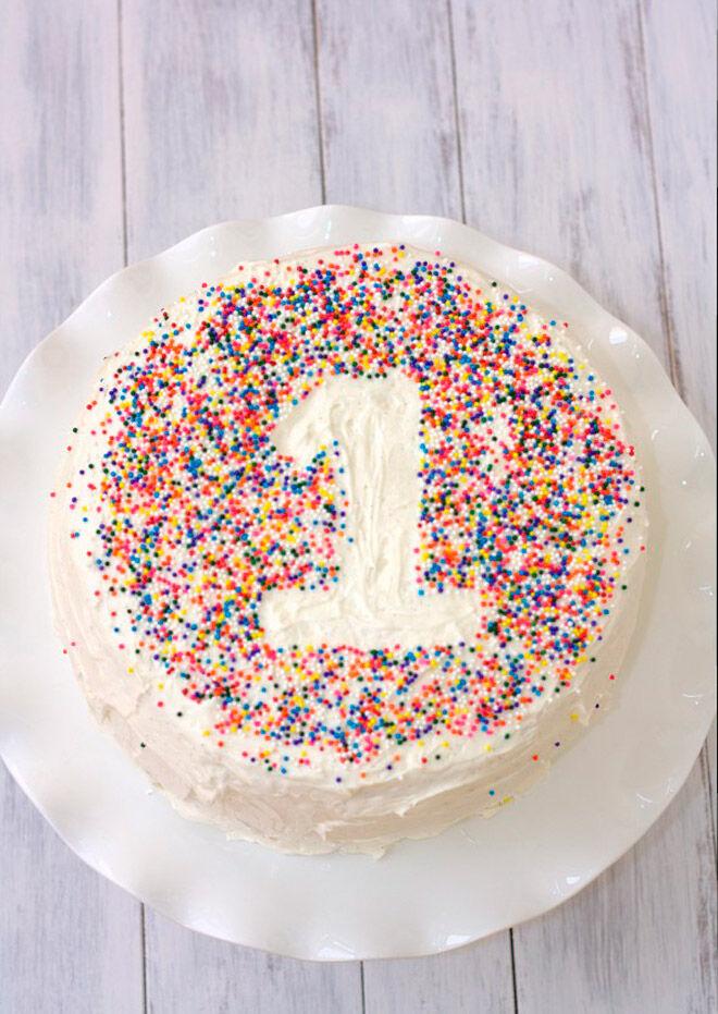 sprinkles baby number cake
