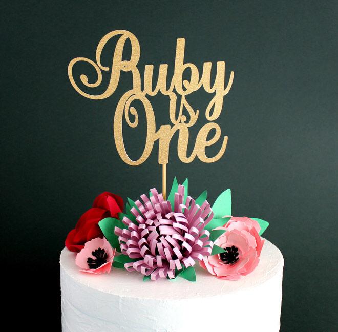 stylish paper shop etsy number cake topper