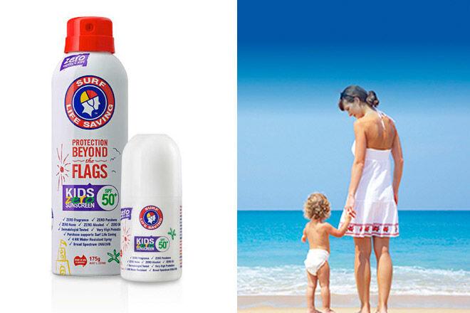 surf life saving zero kids sunscreen