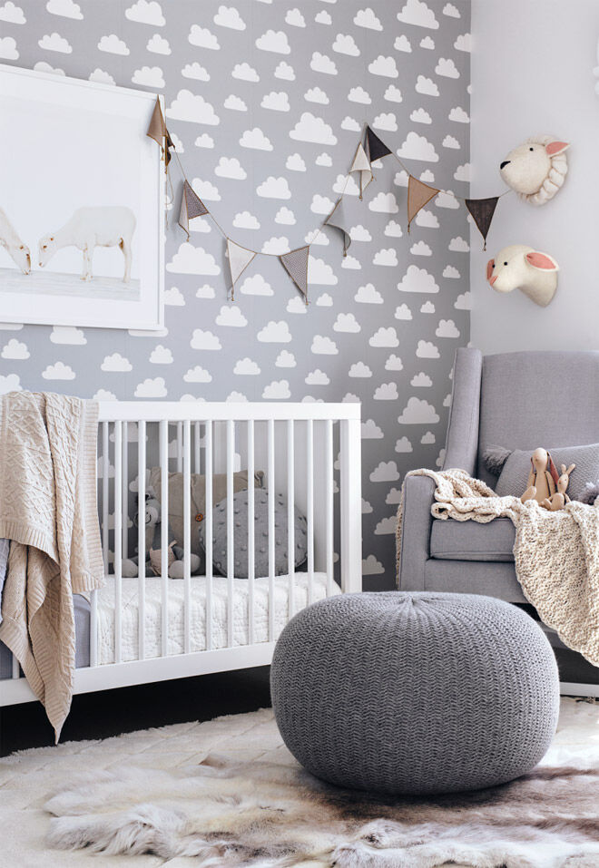 Use soft textures to create a calm and tranquil nursery