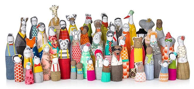 Hipster family dolls