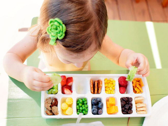 toddler eating more fruit - toddler buffet