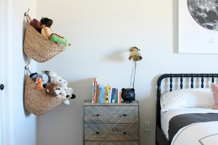 soft toy storage - wall hanging baskets