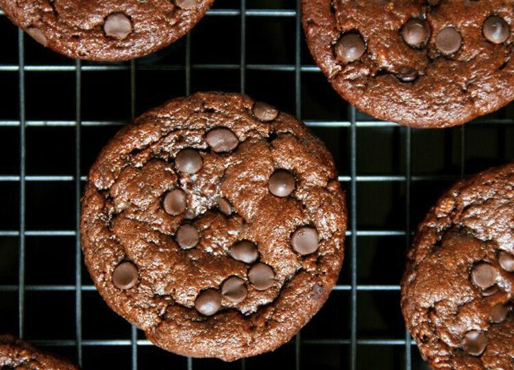 Chocolate Zucchini Gluten-free muffins