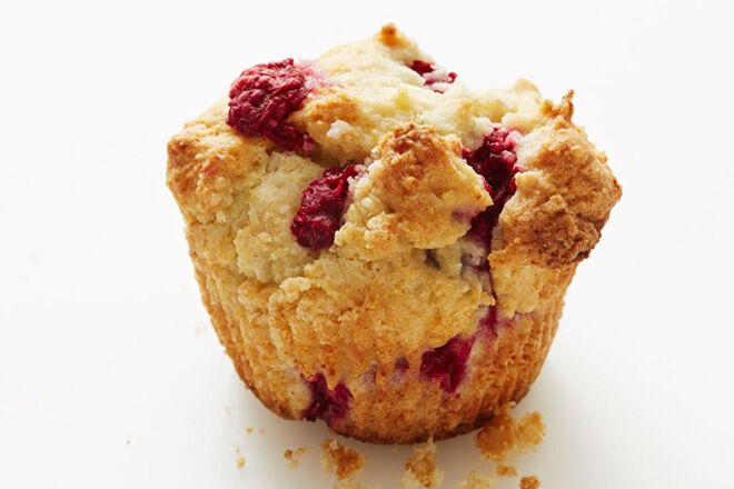 Gluten free raspberry and ricotta muffins