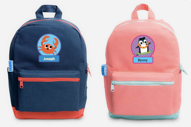 hippo blue small backpack