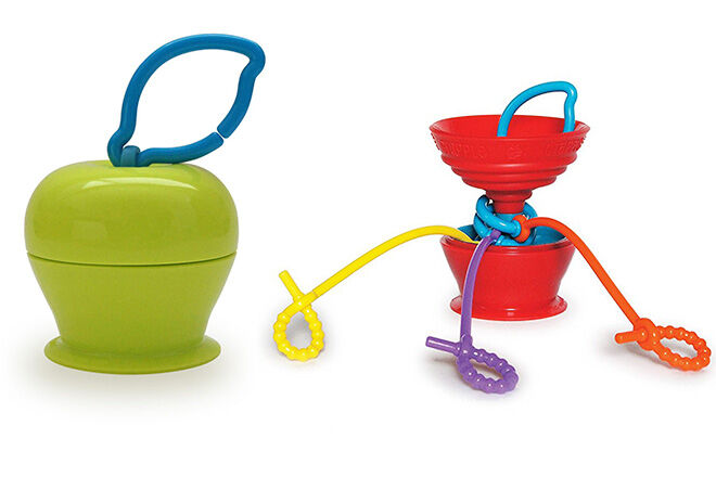 Jellystone Grapple Highchair toy to entertain baby on a long haul flight