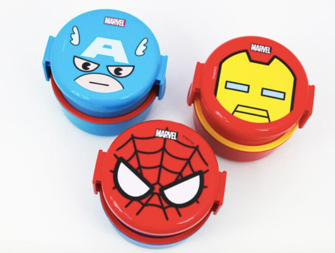 Marvel Bento Boxes to entertain baby on a long haul flight