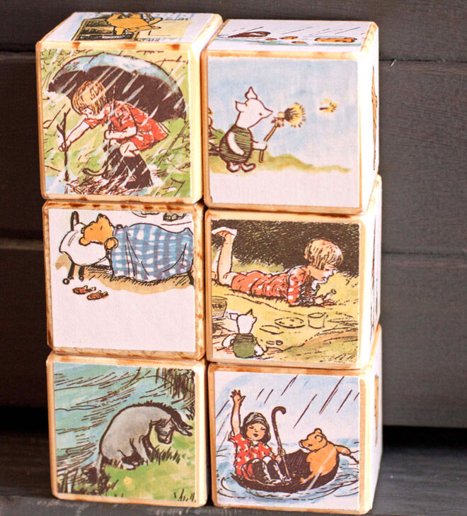 barney and boo baby blocks winnie the pooh