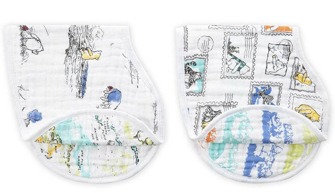 aden and anias winnie the pooh baby classic burpy bibs