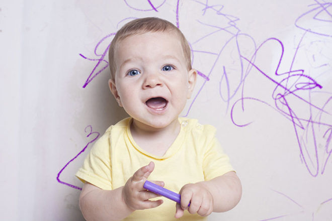 toddler cleaning hacks drawing on walls