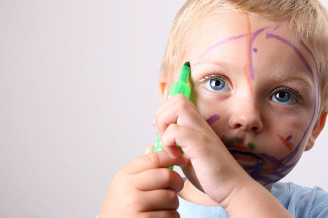 how to get rid of permanent marker and texta and other toddler messes
