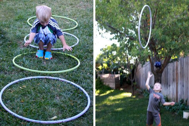 hoola hoop gross motor skills games