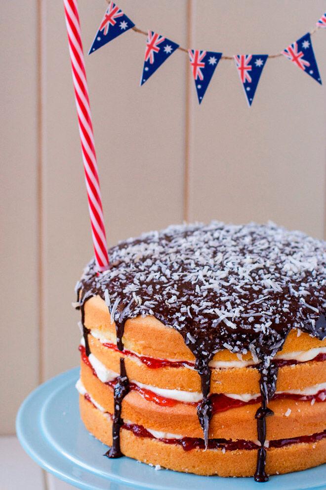 lamington cake australia day recipe
